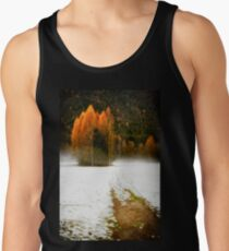 Group of pine trees in the mist Men's Tank Top