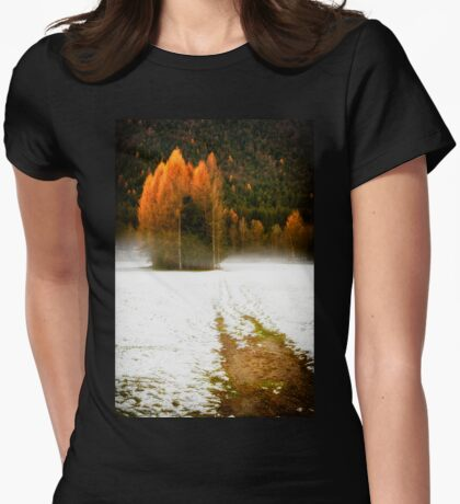 Group of pine trees in the mist T-Shirt