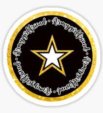 US Army Girlfriend Circle Sticker