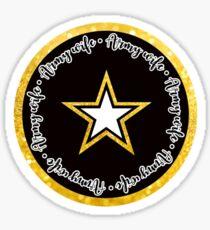 US Army Wife Circle Sticker