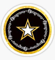 US Army Mom Circle Sticker