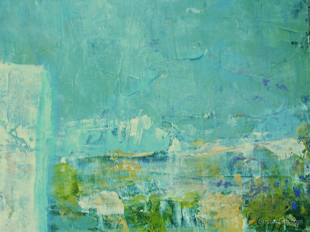 Green Abstract No 2 by Susan Grissom