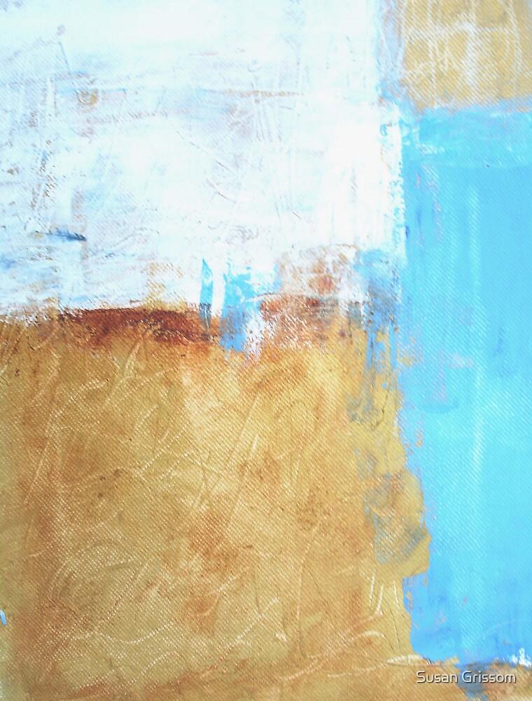 Blue aqua abstract No 21 by Susan Grissom