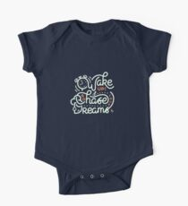 Wake up! Go chase your dreams! Short Sleeve Baby One-Piece