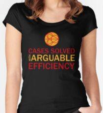 Cases Solved with Arguable Efficiency - Dirk Gently Women's Fitted Scoop T-Shirt