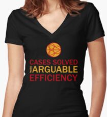 Cases Solved with Arguable Efficiency - Dirk Gently Women's Fitted V-Neck T-Shirt