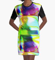 Glitchy Party Poison - Gerard Way - Danger Days Era Graphic T-Shirt Dress