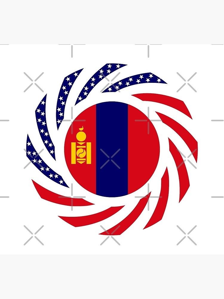 Mongolian American Multinational Patriot Flag Series by carbonfibreme