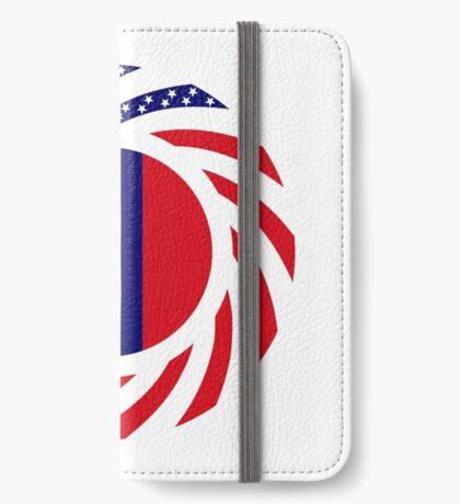 Mongolian American Multinational Patriot Flag Series iPhone Wallet