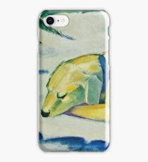Franz Marc - Dog Lying In The Snow 1911 iPhone Case/Skin