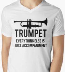 Lustiger Trompeter T-Shirt mit V-Ausschnitt für Männer