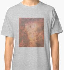 Faded Space Marble Orange and Red Sky's Classic T-Shirt