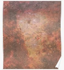Faded Space Marble Orange and Red Sky's Poster