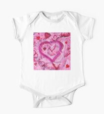 Romantic Scribble Heart Pink 17 Kids Clothes
