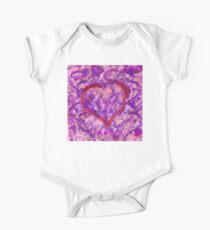 Romantic Scribble Heart Red 17 Kids Clothes