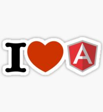 i love angularjs Sticker