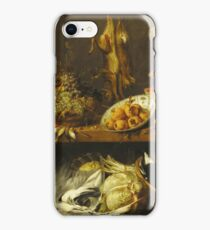 Frans Snyders - Kitchen Still Life With A Maid And Young Boy iPhone Case/Skin