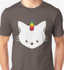Unicorn Cat with Rainbow Horn T-Shirt