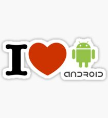 i love android Sticker