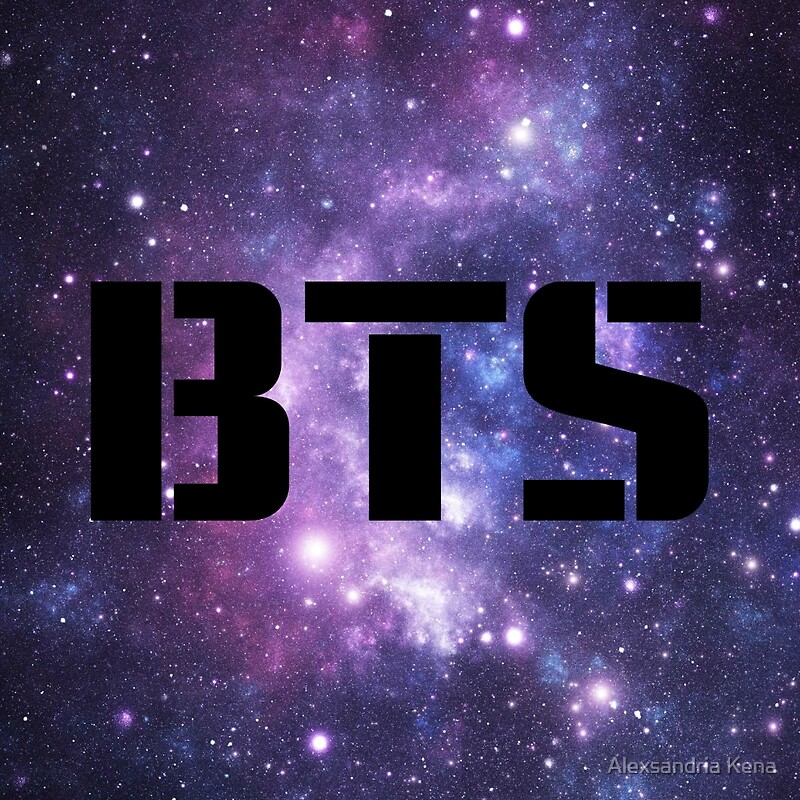 """BTS Purple Galaxy"" Art Prints by alexxkpopstore | Redbubble"