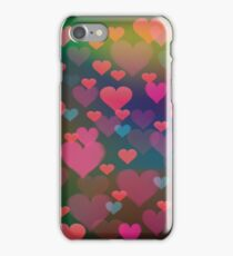 abstract hearts iPhone Case/Skin