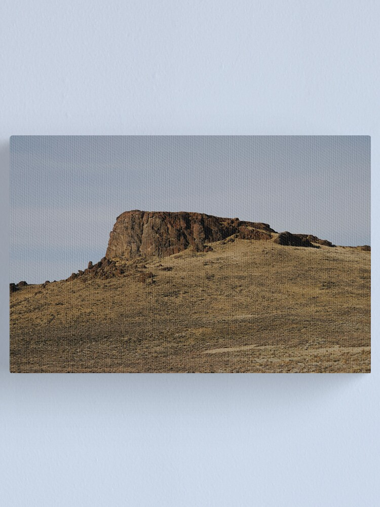 Alternate view of A Lonely Butte Canvas Print