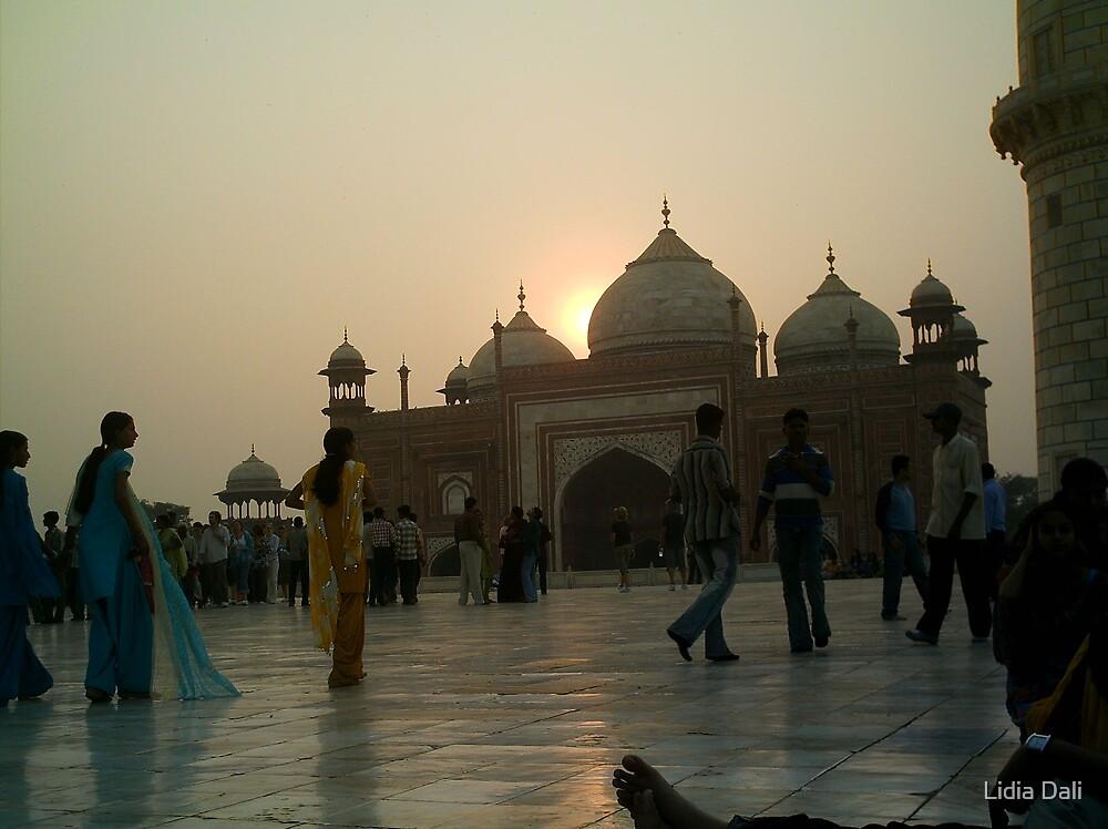 Sunset at Taj Mahal by Lidiya