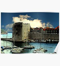 Dubrovnik harbour  Poster