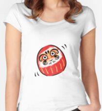 Daruma-san Women's Fitted Scoop T-Shirt
