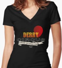 Derry Circus Women's Fitted V-Neck T-Shirt