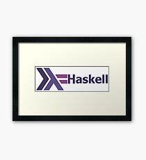haskell programming language Framed Print
