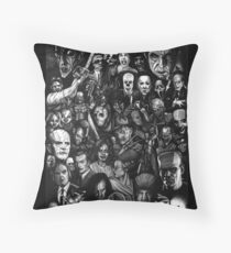 Classic Horror Movies Throw Pillow