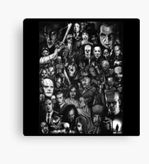 Classic Horror Movies Canvas Print
