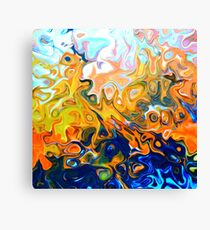 Inflame abstract contemporary fire art orange black white Canvas Print