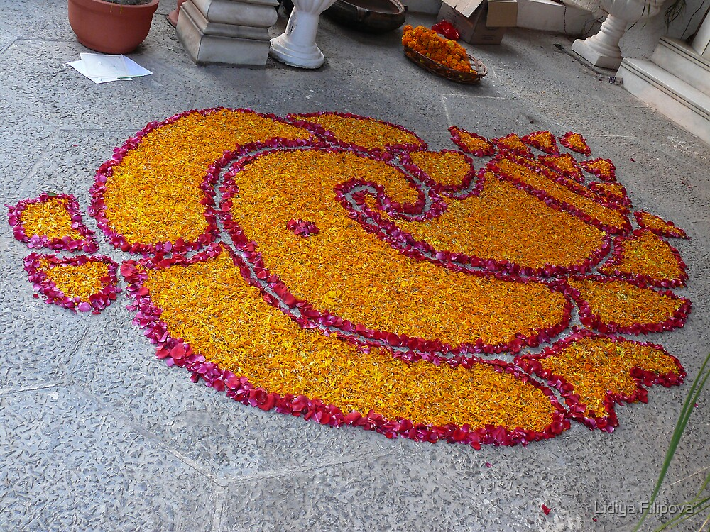 Rangoli for Diwali - Lord Ganesh by Lidiya