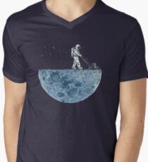 Camiseta para hombre de cuello en v Segado