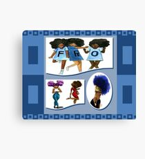 Afro coloured Canvas Print
