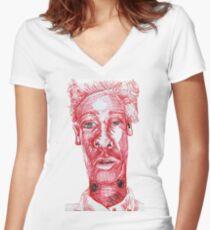 Psst... Psst... Women's Fitted V-Neck T-Shirt