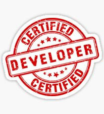 certified developer Sticker