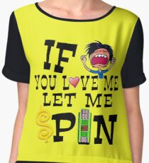 TV Game Show - TPIR (The Price Is...) Let Me Spin Chiffon Top