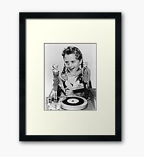 TOY / Girl with Barbie and Ken Dolls Framed Print