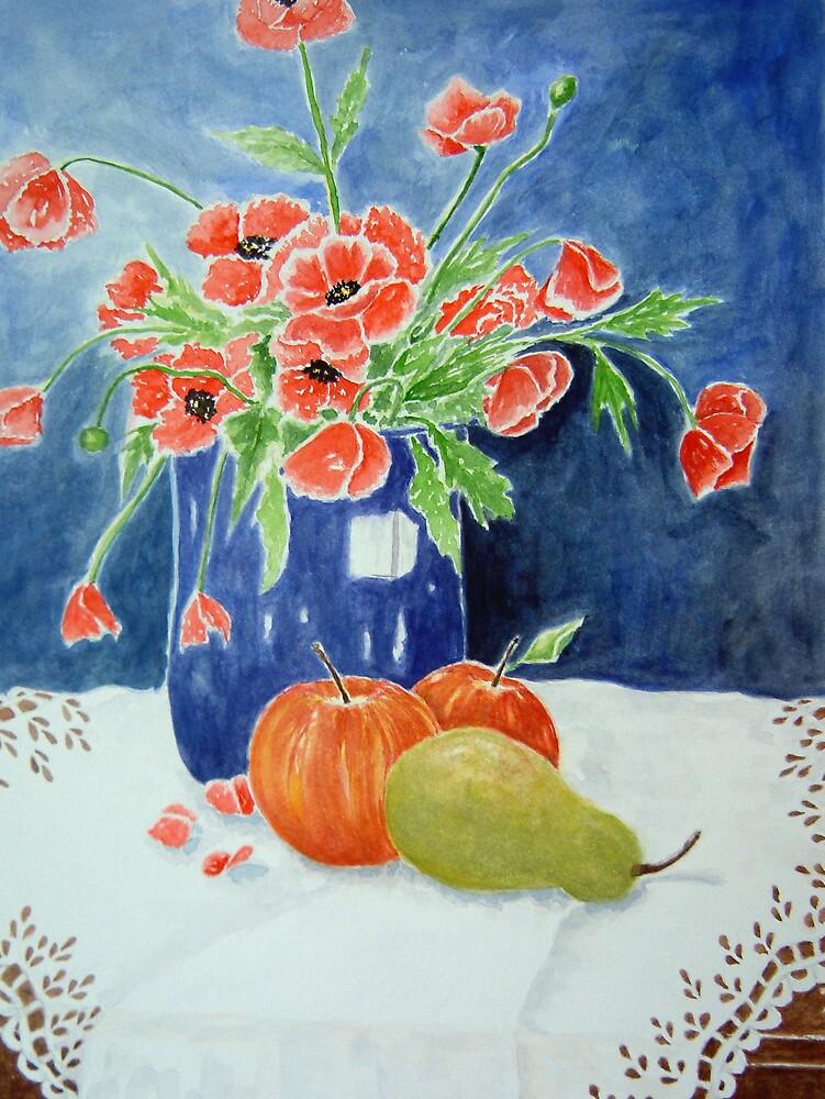 Blue Vase by Ilunia Felczer