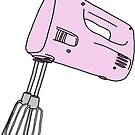 pink hand mixer by andilynnf