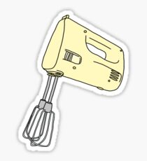 yellow hand mixer Sticker