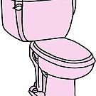 happy little pink toilet by andilynnf
