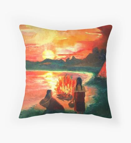 Living with the Elements Throw Pillow