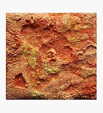 Orange Abstract Salt Painting Photographic Print