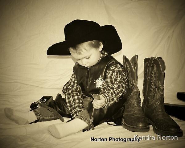 Cowboy in Progress by Kendra Norton