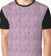 Lavender Cloth Textured With Frond Design Graphic T-Shirt