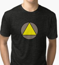 Yellow Triangle Tri-blend T-Shirt